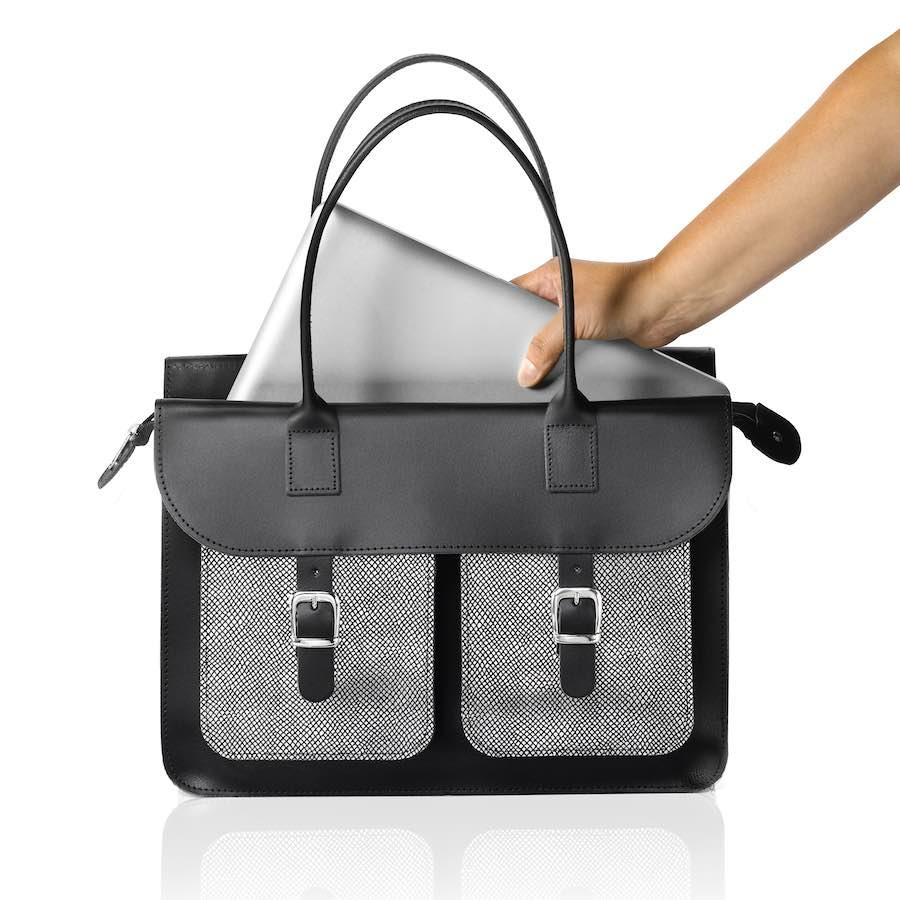 Schoudertas Laptop : Schoudertas dames oldschool bags the ivy