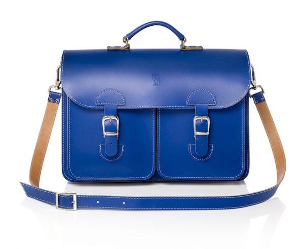 Leather shoulder bag by OldSchool Bags