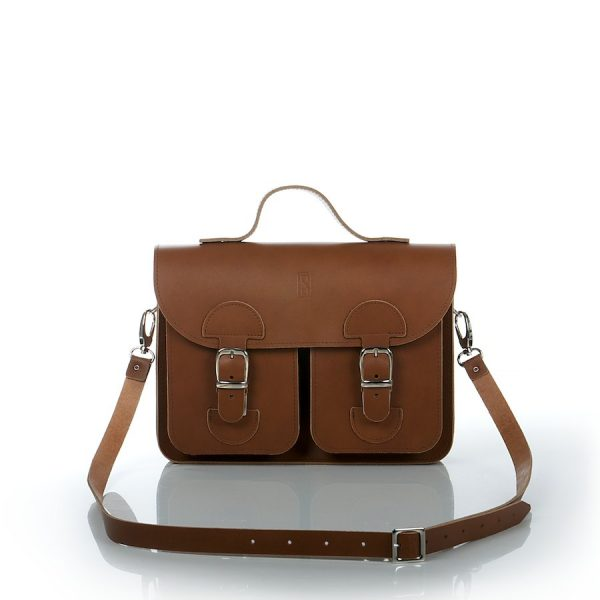 Handbag chestnut brown