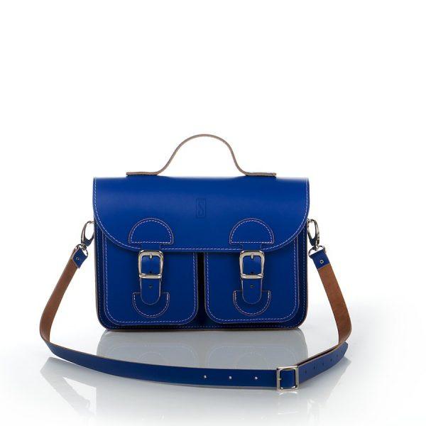 Handtas kobaltblauw