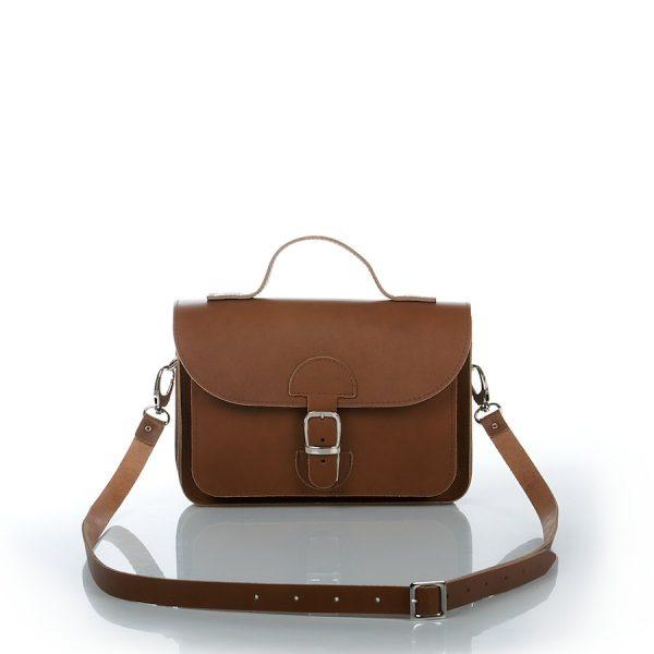 Handtas kastanjebruin - OldSchool Bags - XSmall