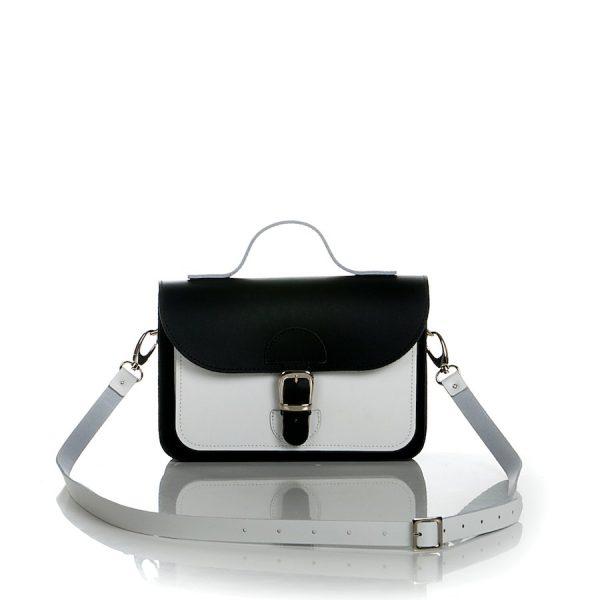 Handtas - OldSchool Bags XSmall - zwart wit