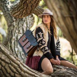 Leren schoudertas bruin - stijlvol naar kantoor: de OldSchool Bags