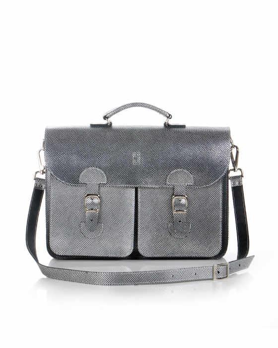 Metallics schooltas (zilver)