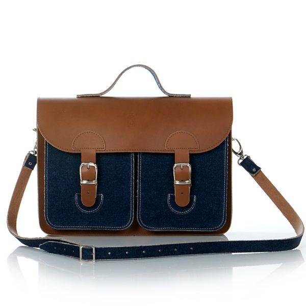 Denim briefcase