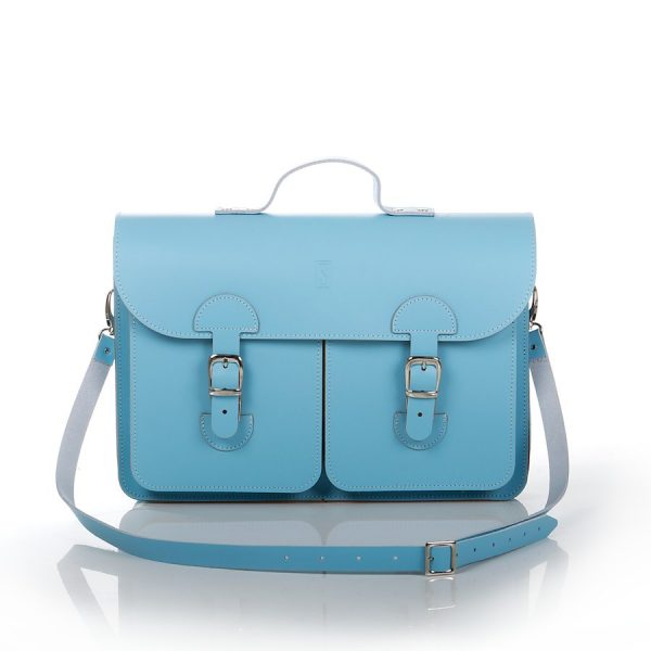Schooltas Aktetas - OldSchool Bags - Large - babyblauw