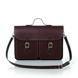 Schooltas - OldSchool Bags - Large - bordeaux rood