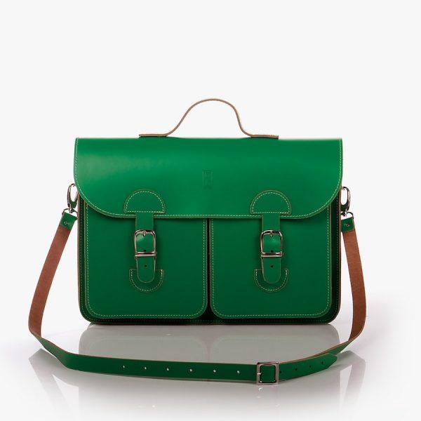 Schooltas Aktetas - OldSchool Bags - Large - groen