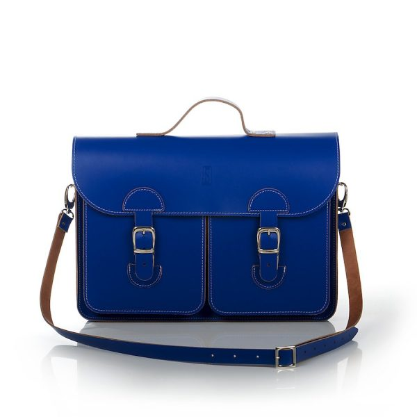Schooltas Aktetas - OldSchool Bags - Large - kobaltblauw