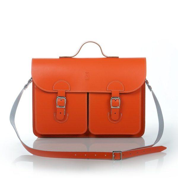 Schooltas Aktetas - OldSchool Bags - Large - oranje