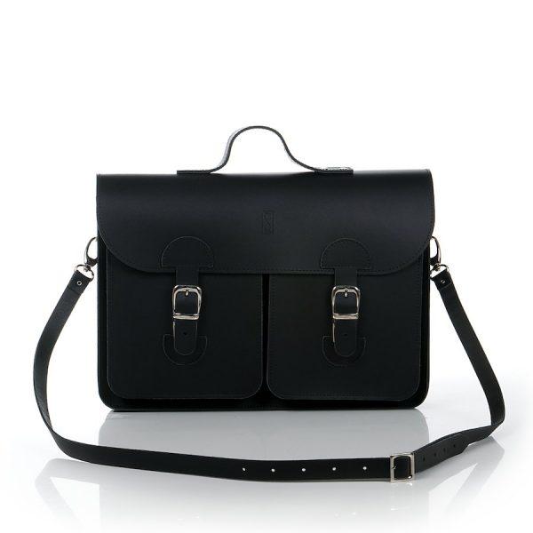 Schooltas zwart - OldSchool Bags - Large
