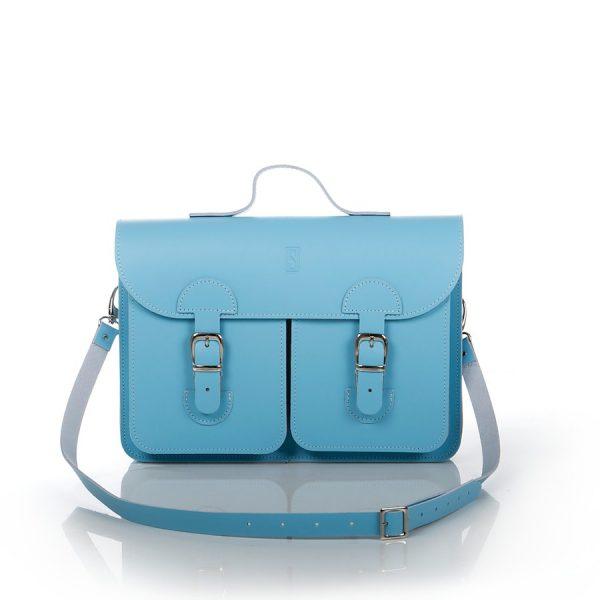 Schooltas babyblauw - OldSchool Bags Medium