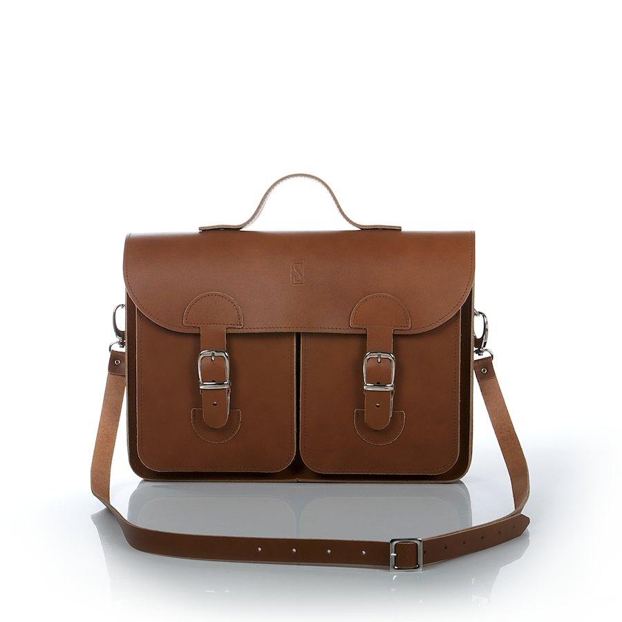 fd5720037bc Leather satchel - OldSchool Bags Medium