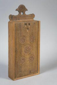 Schooltas uit Zuiderzeemuseum (gedateerd 1850 - 1900)