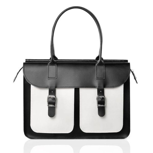Schoudertas dames - OldSchool Bags The Ivy (zwart&wit)