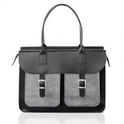 Schoudertas dames - OldSchool Bags The Ivy (zwart&zilver)