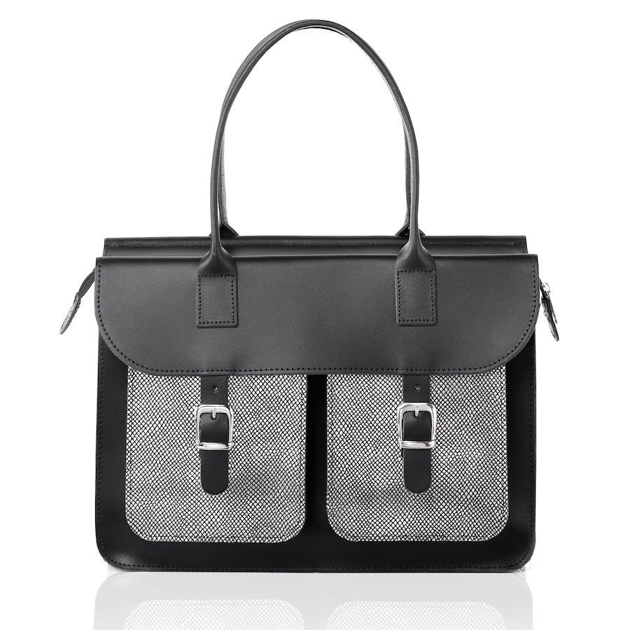 Silver shoulder bag (leather)