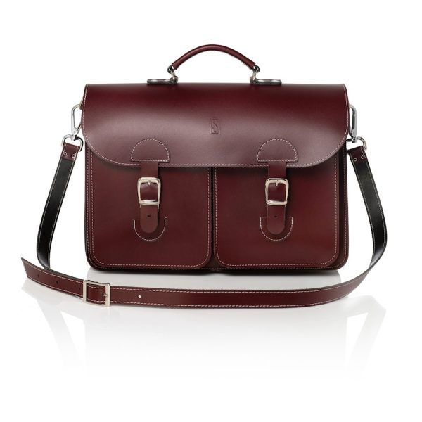 Satchel burgundy