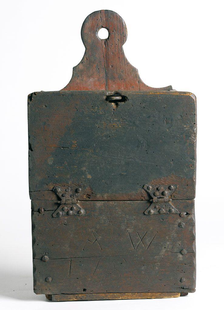 Wooden satchel from 1783