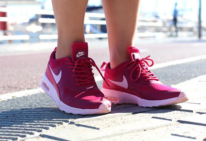 Pink nike sneakers
