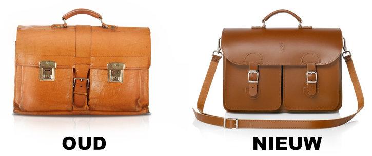 Nieuw design oude schooltas