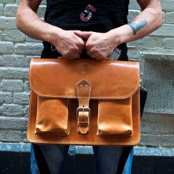 Bruine vintage tas van OldSchool Bags