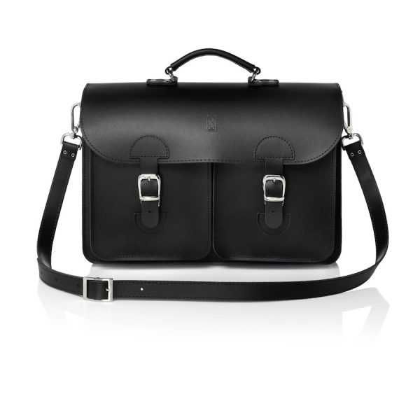 Satchel black (OldSchool Bags XL)