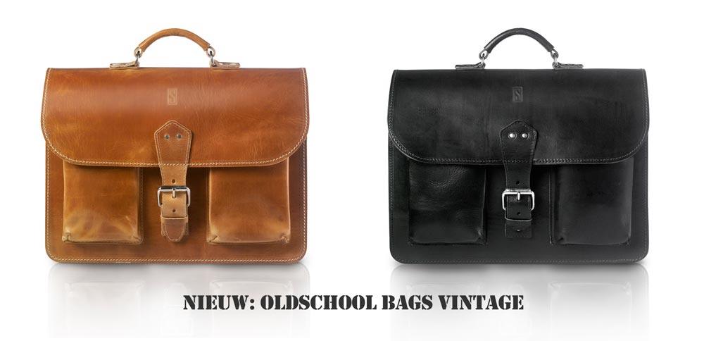 Nieuw: onze twee OldSchool Bags vintage tassen