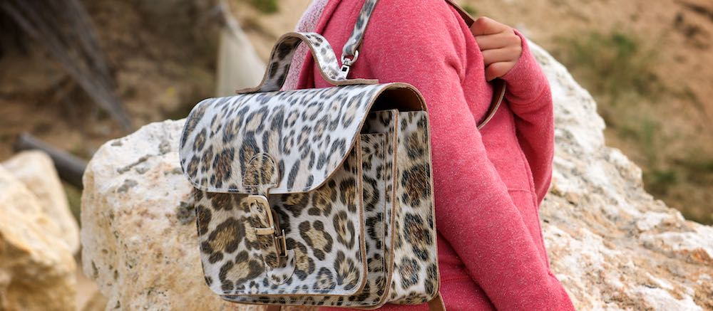 Backpack for children - OldSchool Bags Junior leopard print