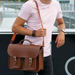 Chestnut brown satchel