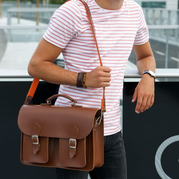 Leather Brown Satchel