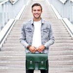 Racing Green satchel
