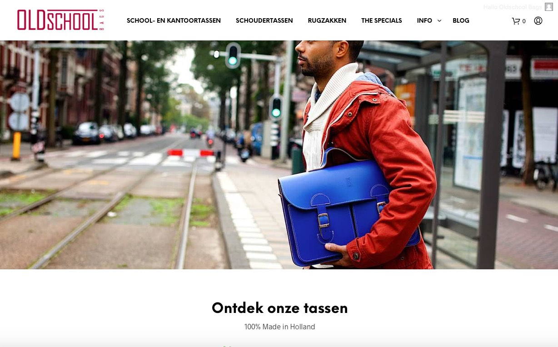 d6456290016 Leren schooltas (model XL) - OldSchool Bags