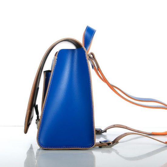 Cobalt blue backpack - side view