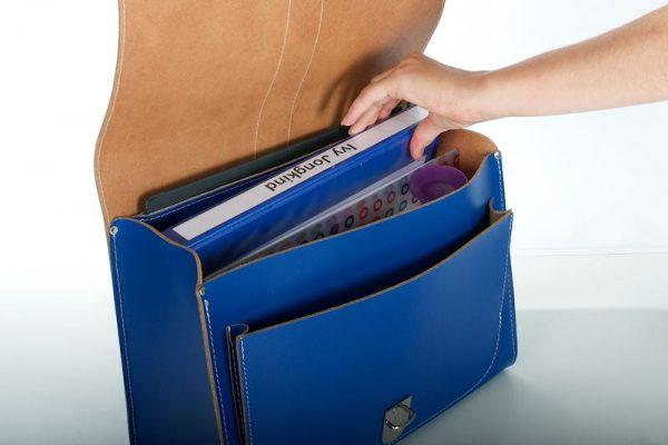 Cobalt blue backpack - inside view