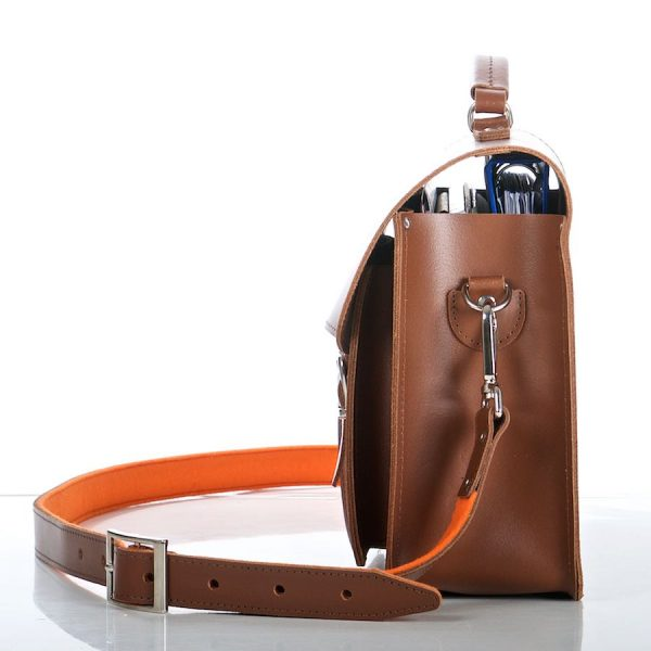 Leather Satchel Medium - detail photo 2