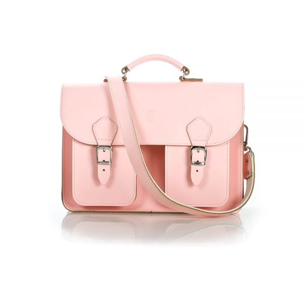 Pink Leather Satchel