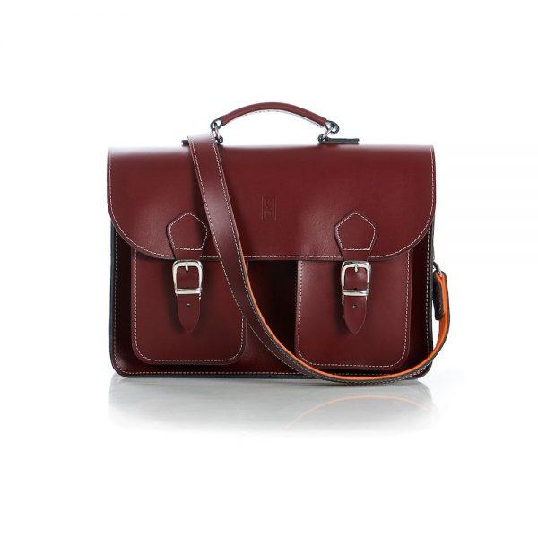 Burgundy Leather Satchel