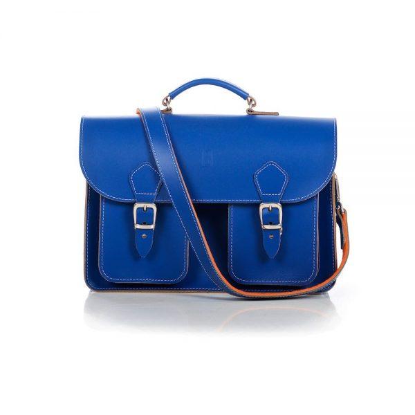 Cobalt Blue Satchel - OldSchoolBags
