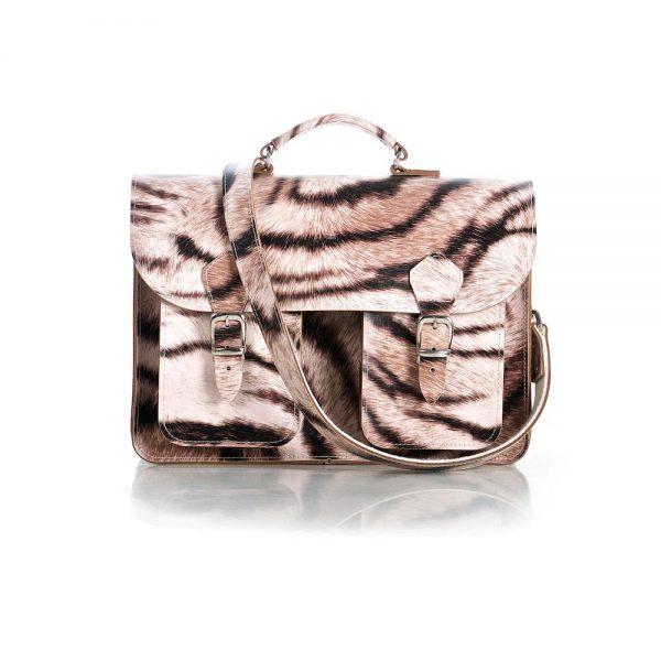 Tiger print satchel