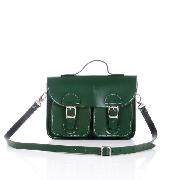Handbag racing green