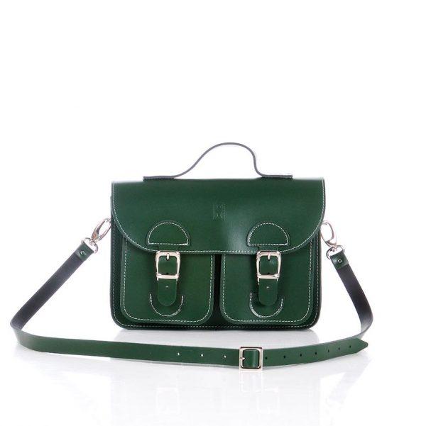 Handbag racing green (OldSchool Bags Small)