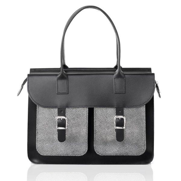 Laptoptas dames (versie zwart-zilver)