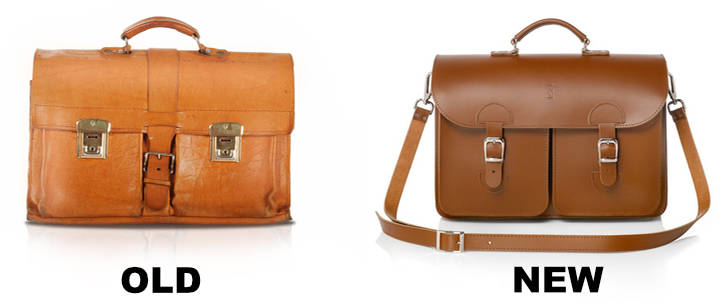 Leather briefcases (old and new)