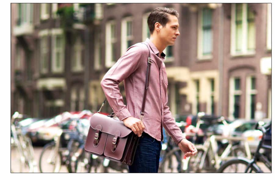 Leren schooltas XL (handgemaakt in Nederland)