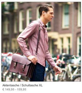 Leder Aktentasche / Schultasche XL