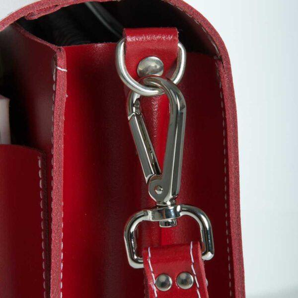 Leather satchel XL - metallic accessoires
