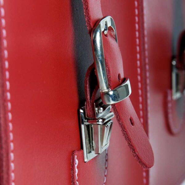 Leather satchel XL - locks