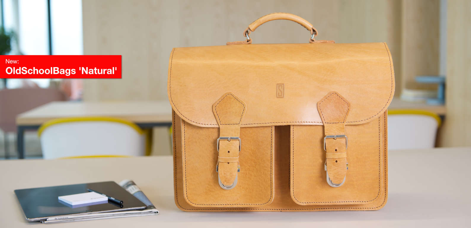 Leather Satchels - OldSchoolBags 'Natural' collection