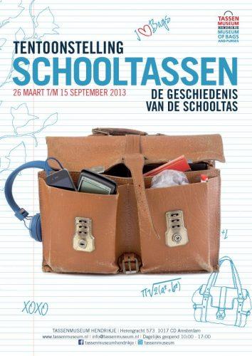 Schooltas tentoonstelling bij Tassen Museum